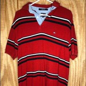Tommy Hilfiger size small red  polo